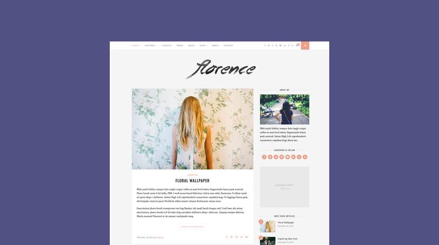 Choose a wordpress blogging theme