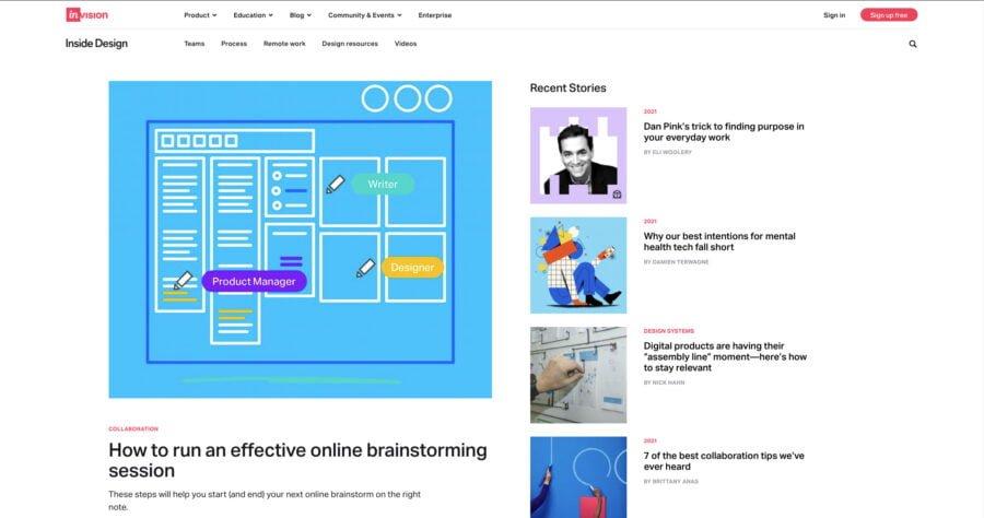 blog ux design
