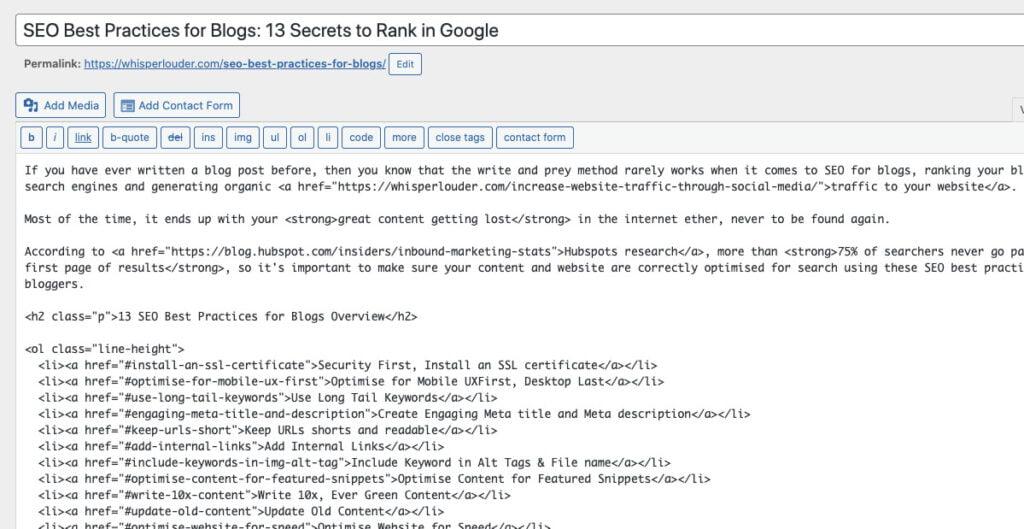 Optimise URL for SEO